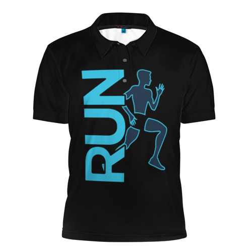 Мужская рубашка поло 3D  Фото 01, RUN