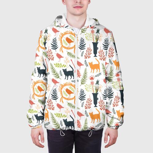 Мужская куртка 3D  Фото 04, О кошках и птичках