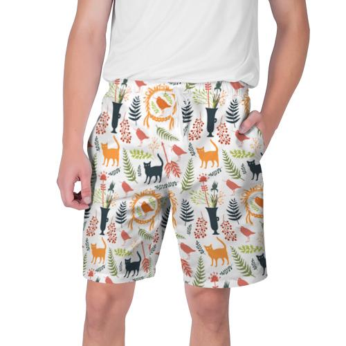 Мужские шорты 3D  Фото 01, О кошках и птичках