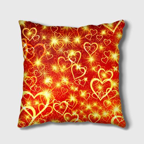 Подушка 3D  Фото 02, Яркие сердца