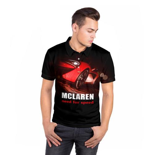 Мужская рубашка поло 3D  Фото 05, McLaren - жажда скорости