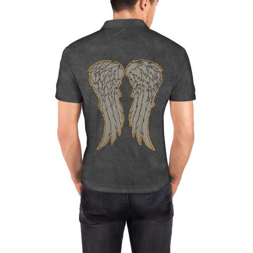 Мужская рубашка поло 3D  Фото 04, Ходячие крылья на спине