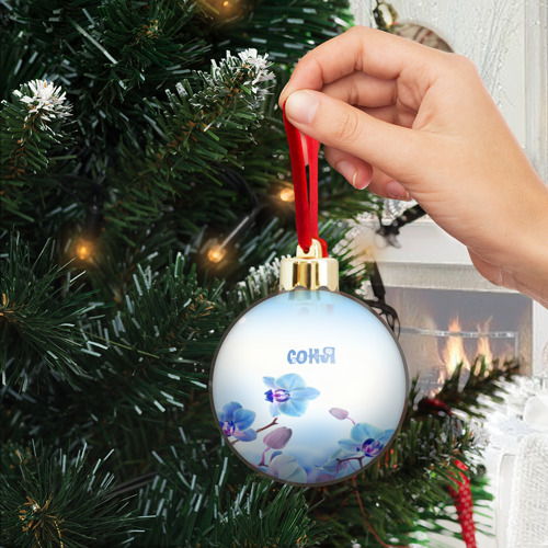 Ёлочный шар с блестками  Фото 04, Соня