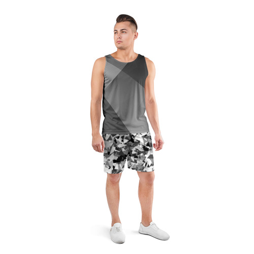 Мужские шорты спортивные Городской серый камуфляж Фото 01