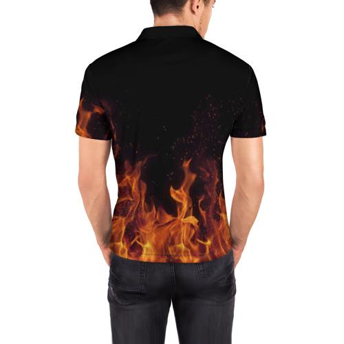 Мужская рубашка поло 3D  Фото 04, Иван огонь мужик