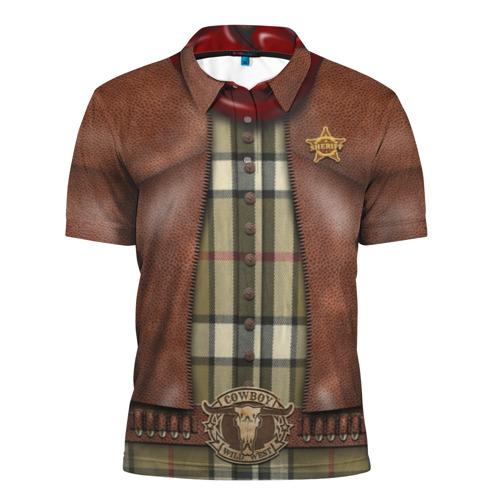 Мужская рубашка поло 3D  Фото 01, Ковбой