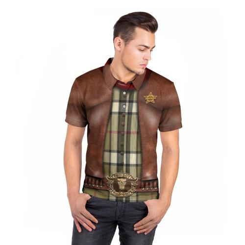 Мужская рубашка поло 3D  Фото 05, Ковбой