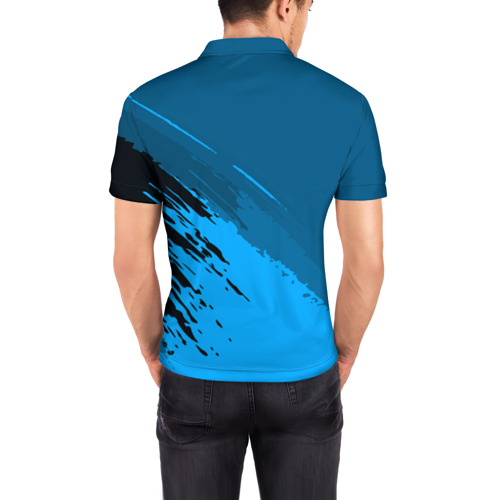 Мужская рубашка поло 3D  Фото 04, FC Juventus abstract style