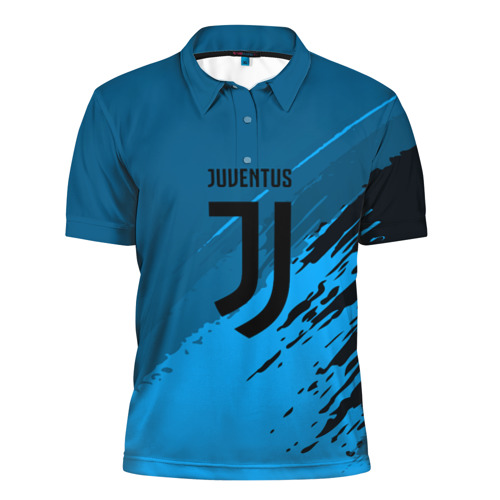 Мужская рубашка поло 3D  Фото 01, FC Juventus abstract style