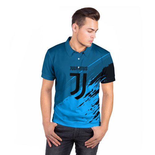 Мужская рубашка поло 3D  Фото 05, FC Juventus abstract style