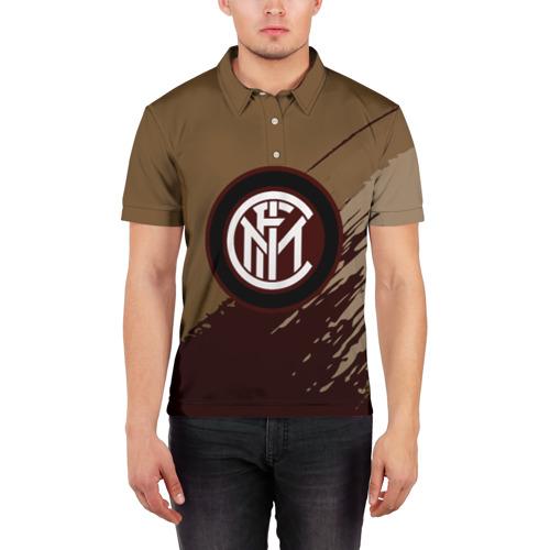 Мужская рубашка поло 3D  Фото 03, FC Inter abstract style
