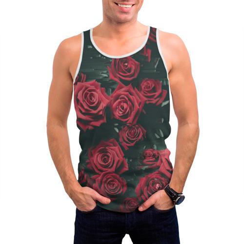 Мужская майка 3D  Фото 03, Цветы Розы