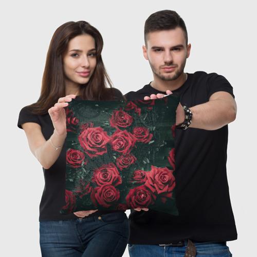 Подушка 3D  Фото 05, Цветы Розы