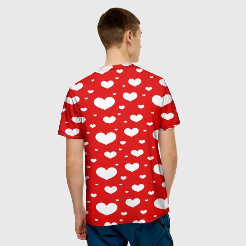 Мужская футболка 3D  Фото 02, heart pattern
