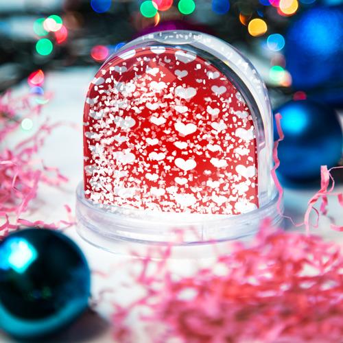 Водяной шар со снегом  Фото 04, heart pattern