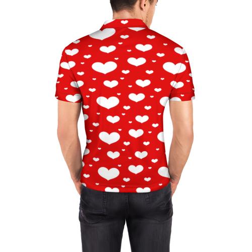 Мужская рубашка поло 3D  Фото 04, heart pattern
