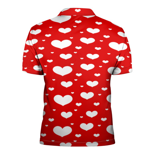 Мужская рубашка поло 3D  Фото 02, heart pattern