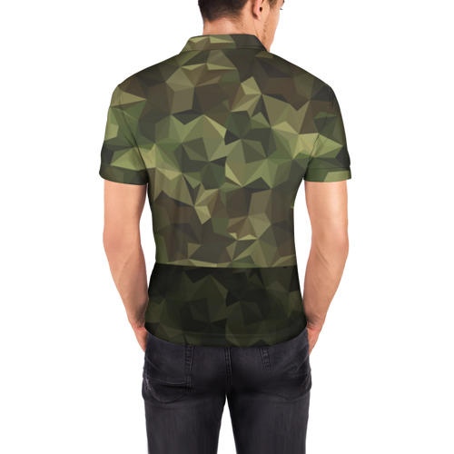 Мужская рубашка поло 3D  Фото 04, Дикий доберман