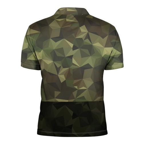 Мужская рубашка поло 3D  Фото 02, Дикий доберман