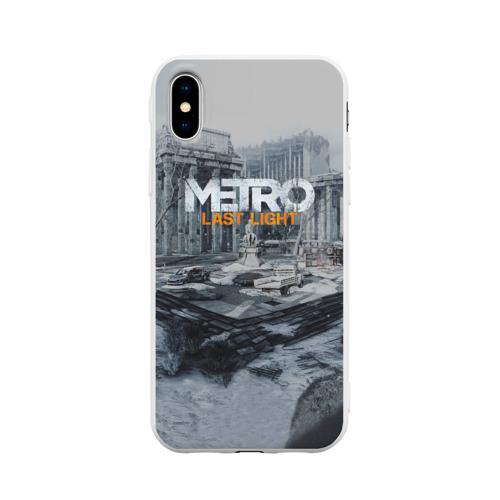 Чехол для Apple iPhone X силиконовый матовый METRO Last Light Фото 01