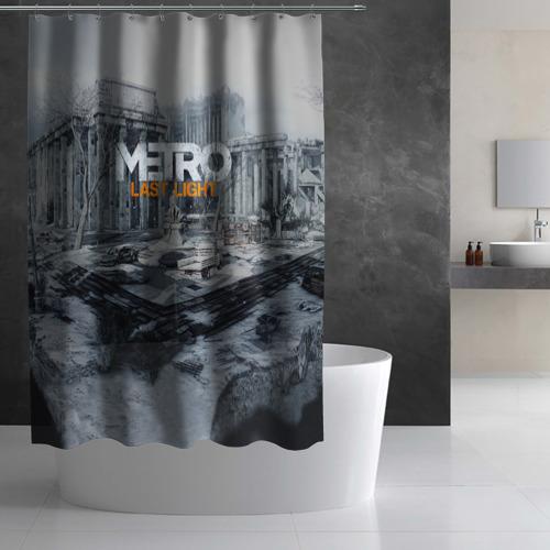 Штора 3D для ванной METRO Last Light Фото 01