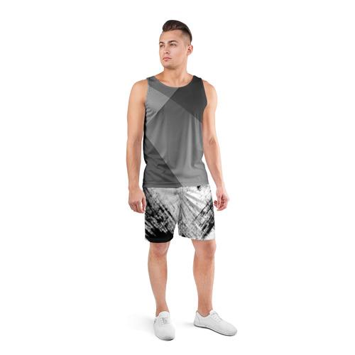 Мужские шорты спортивные Штриховка  Фото 01