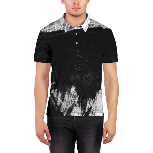Мужская рубашка поло 3D  Фото 03, absraction style