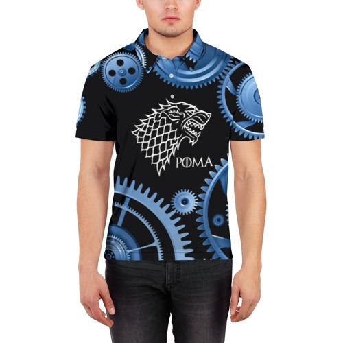 Мужская рубашка поло 3D  Фото 03, Старк Рома