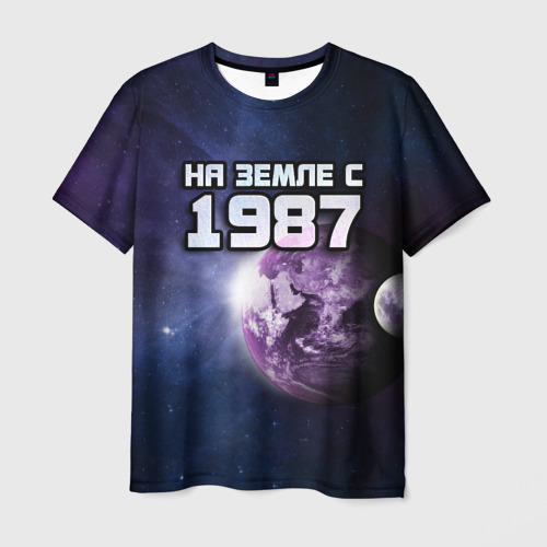Мужская футболка 3D  Фото 03, На земле с 1987