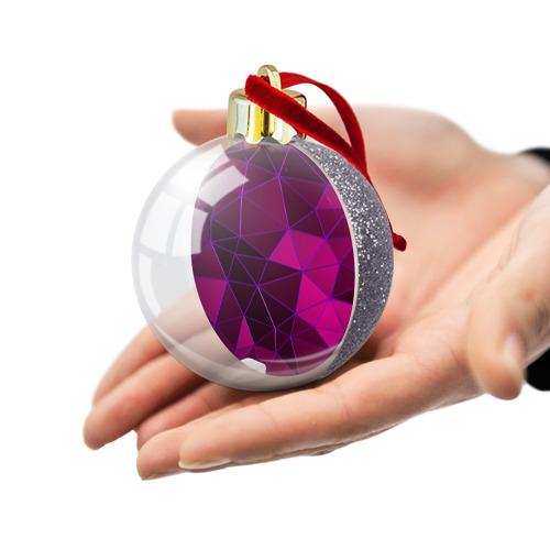 Ёлочный шар с блестками  Фото 03, Mosaic fashion