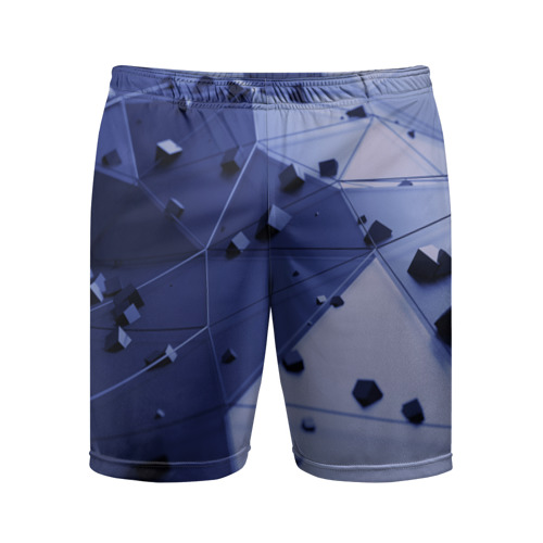 Мужские шорты 3D спортивные  Фото 01, Quantum abstract
