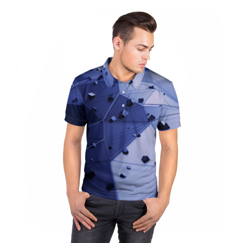 Мужская рубашка поло 3D  Фото 05, Quantum abstract