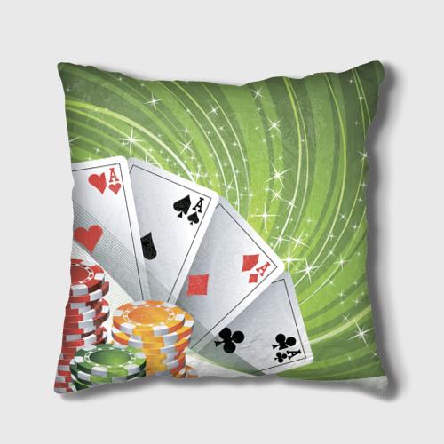 Подушка 3D  Фото 02, Покер Старс