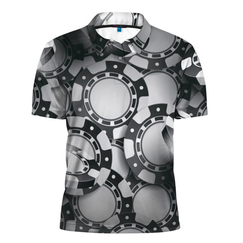 Мужская рубашка поло 3D  Фото 01, Poker