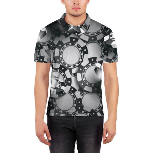 Мужская рубашка поло 3D  Фото 03, Poker