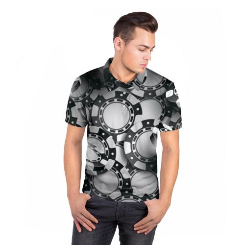 Мужская рубашка поло 3D  Фото 05, Poker