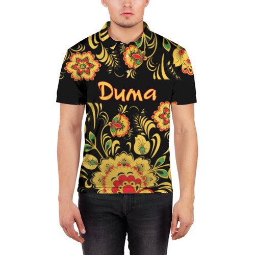 Мужская рубашка поло 3D  Фото 03, Дима, роспись под хохлому