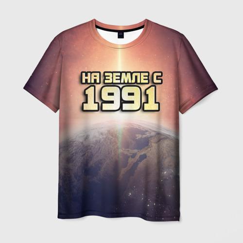 Мужская футболка 3D  Фото 03, На земле с 1991