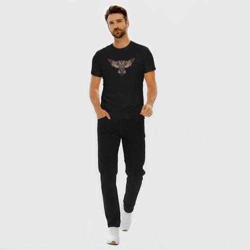 Мужская футболка хлопок Slim Сова Фото 01