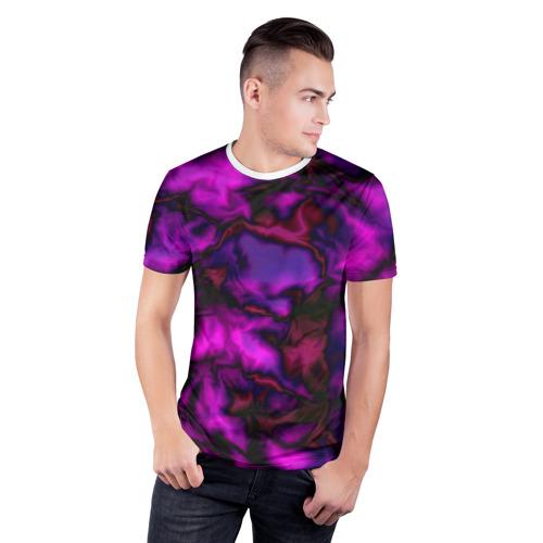Мужская футболка 3D спортивная  Фото 03, Абстракт