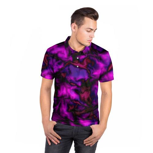 Мужская рубашка поло 3D  Фото 05, Абстракт