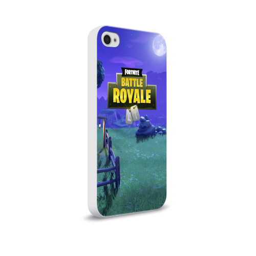 Чехол для Apple iPhone 4/4S soft-touch  Фото 02, Fortnite Night