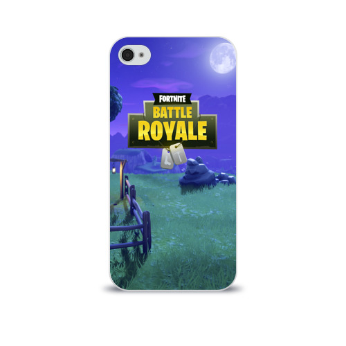 Чехол для Apple iPhone 4/4S soft-touch  Фото 01, Fortnite Night