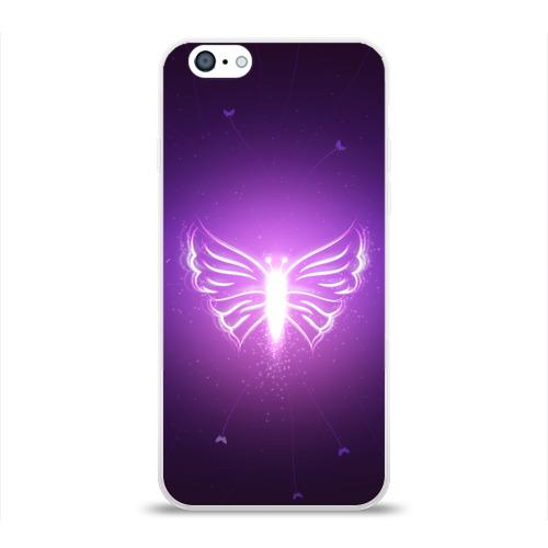 Чехол для Apple iPhone 6 силиконовый глянцевый Бабочка Фото 01