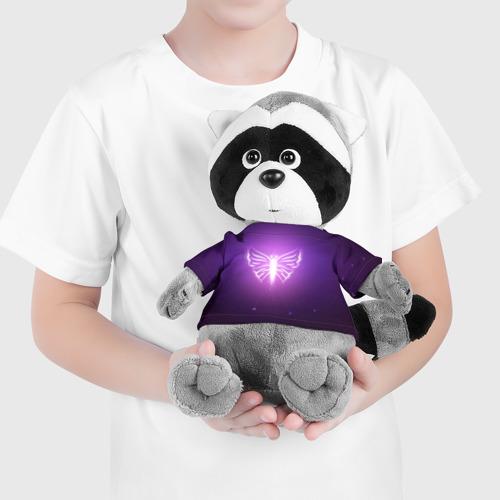 Енотик в футболке 3D Бабочка Фото 01