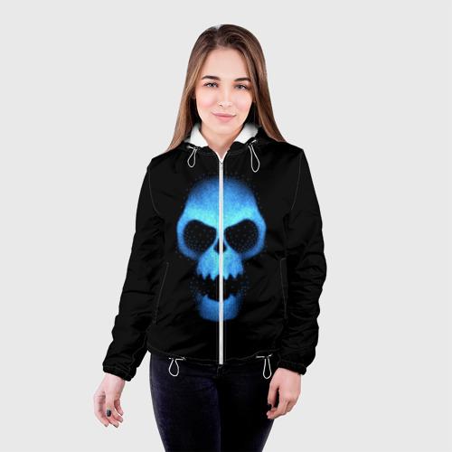 Женская куртка 3D  Фото 03, Синий череп