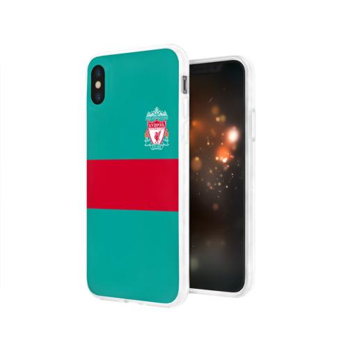 Чехол для Apple iPhone X силиконовый глянцевый  Фото 03, FC Liverpool