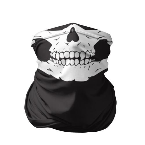 Бандана-труба 3D Череп маска черная Фото 01