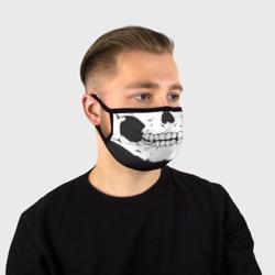 Череп маска черная
