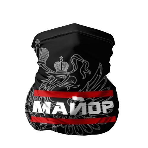 Бандана-труба 3D  Фото 01, Майор, белый герб РФ